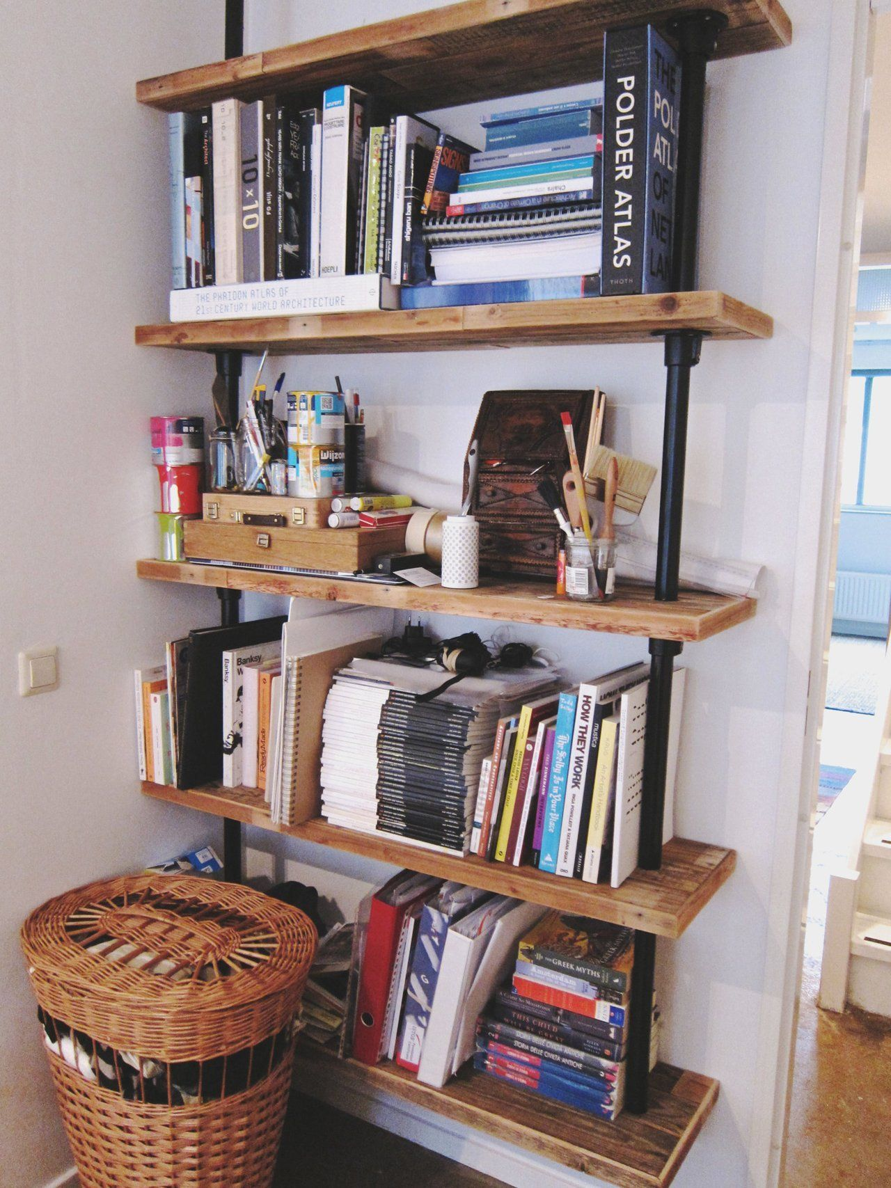 Hanging Shelves Elena Judd S Cozy Amsterdam Apartment Therapy