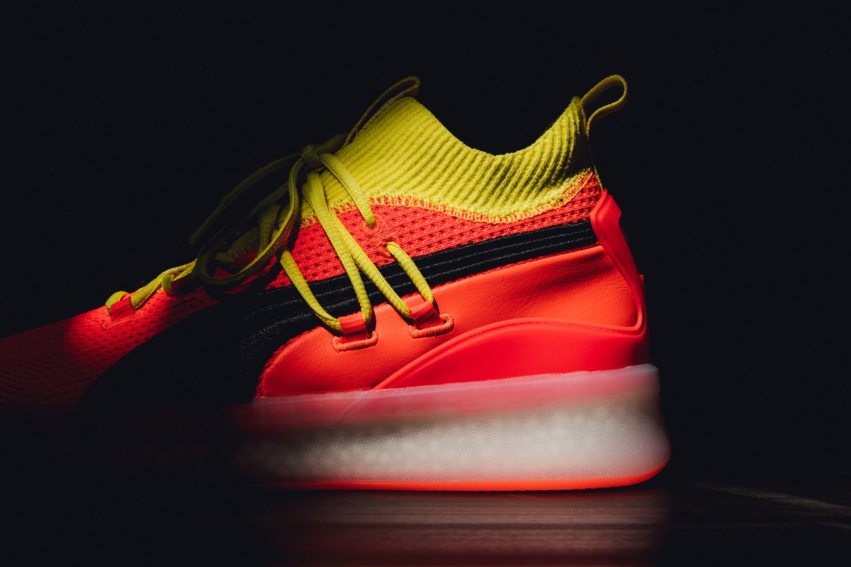 sale retailer 22ce9 76638 puma the clyde court 2018 red orange black yellow german footwear  basketball cupsole fraizer walter jay