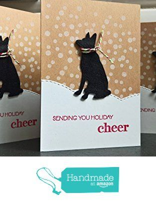 Dog christmas cards set of 4 holiday greeting cards german dog christmas cards set of 4 holiday greeting cards german shepherd cards gift m4hsunfo