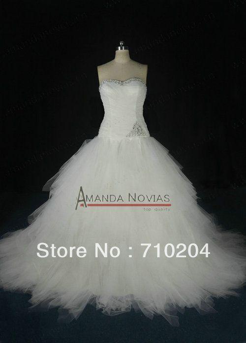 Puffy Tulle Corset Bodice Theme Wedding Dress With Ruffles $266.88