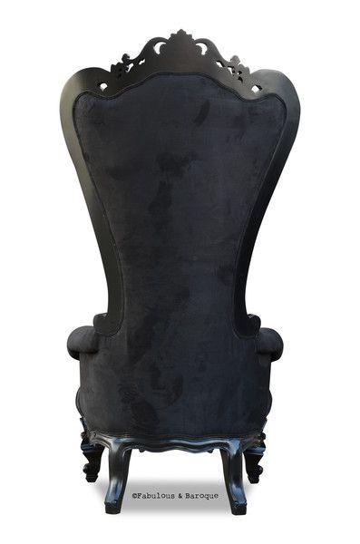 Absolom Roche Chair - Black Faux Suede