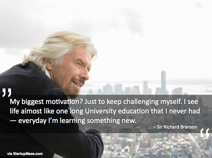 """Image result for every day I'm learning something new."""" -Richard Branson,"""""""