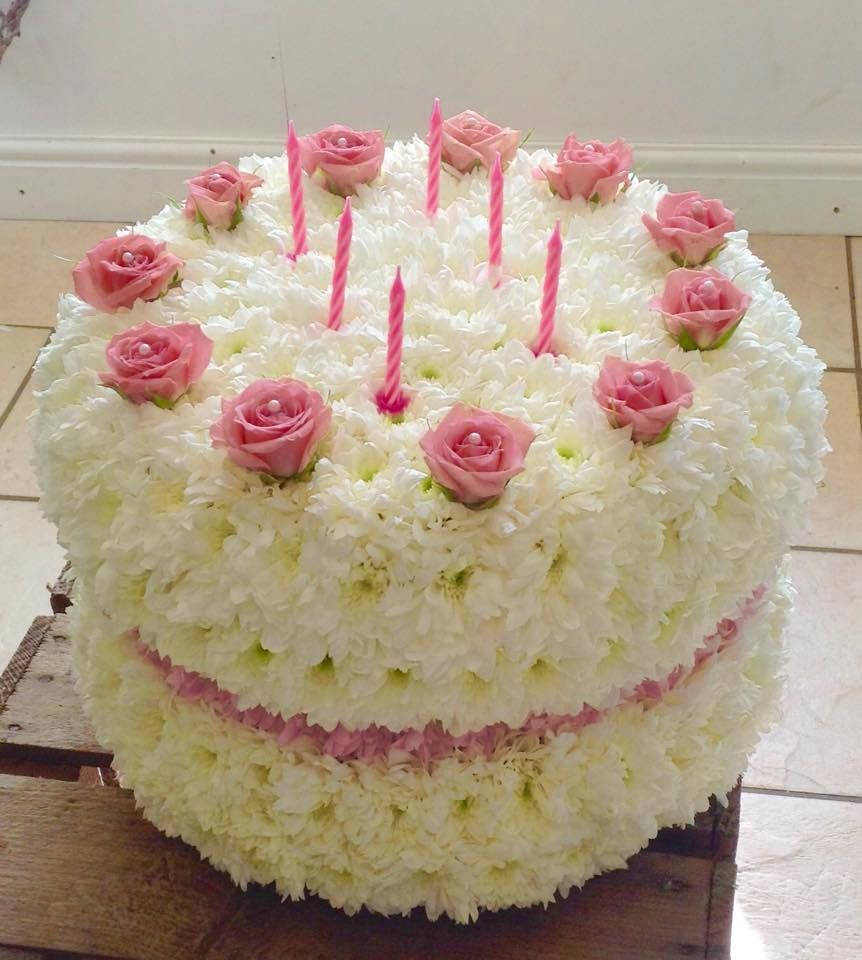 Magnificent Birthday Cake By Kirsty At Pinks Funeral Flower Arrangements Funny Birthday Cards Online Elaedamsfinfo