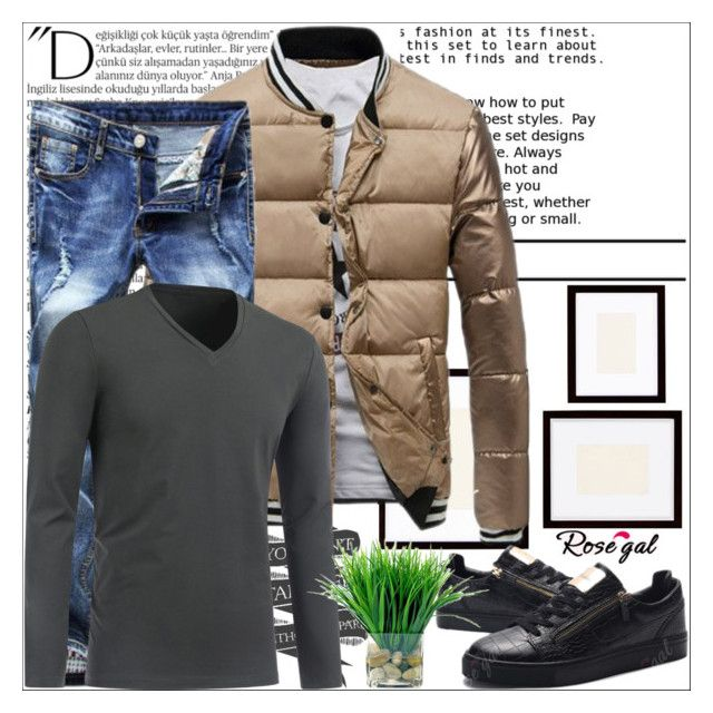 """""""Rosegal 48/ I"""" by emina-095 ❤ liked on Polyvore featuring Balmain, Pottery Barn, men's fashion and menswear"""