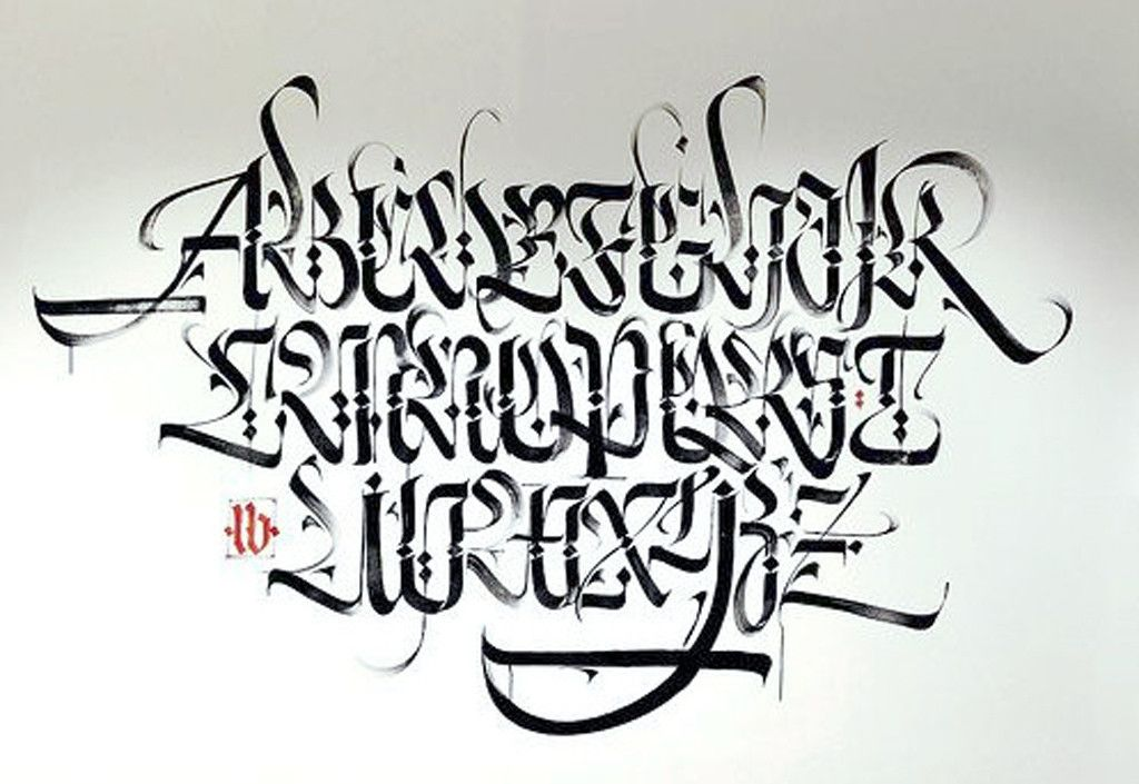 Graffiti Alphabet Drawing Letter A Z With Calligraphy Font
