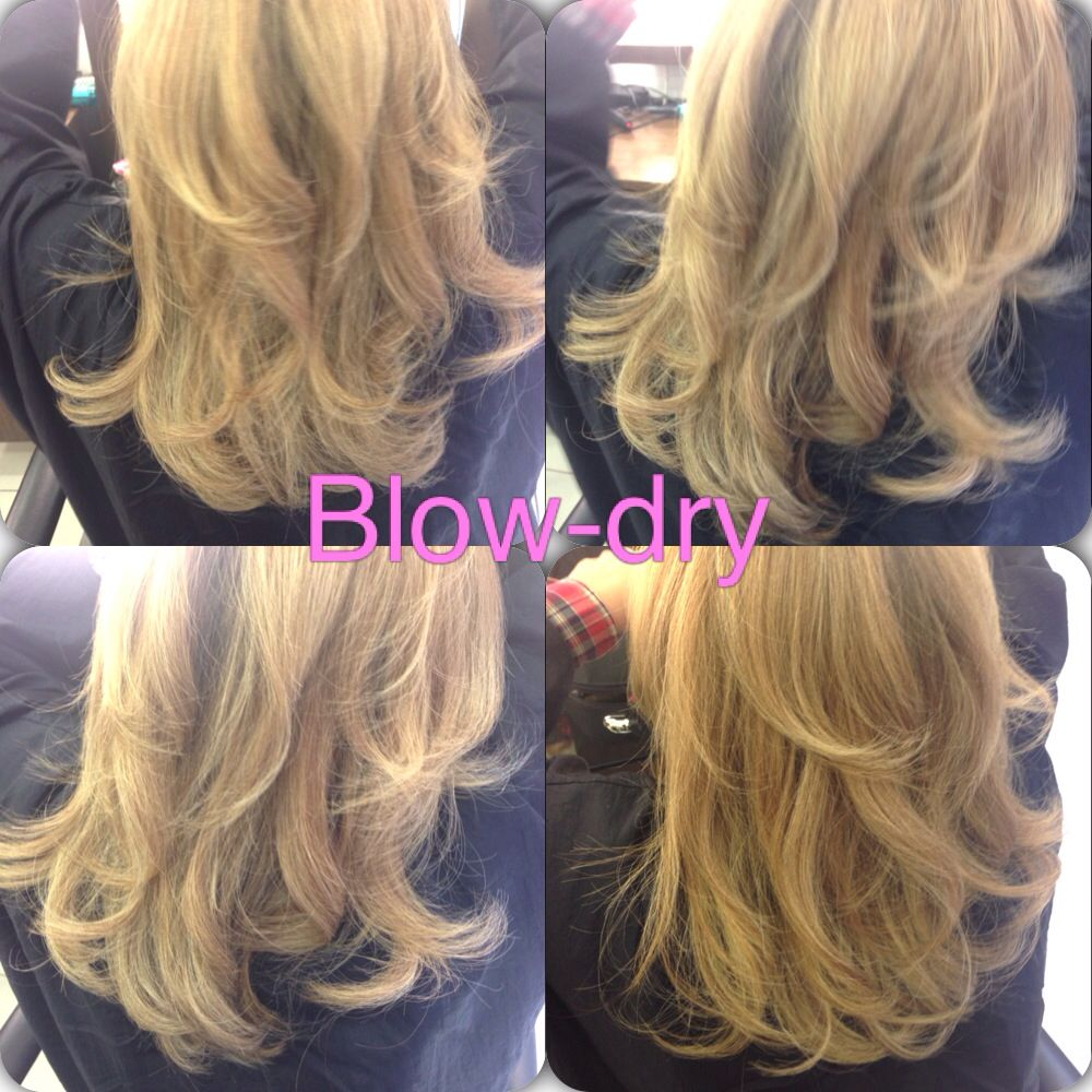 I Done A Bouncy Blow Dry With Movement Using A Medium And Small Round Brush Blow Dry Hair Medium Length Hair Styles Hair Styles