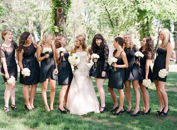 Five for Friday vintage chic wedding Lace bridesmaids gowns