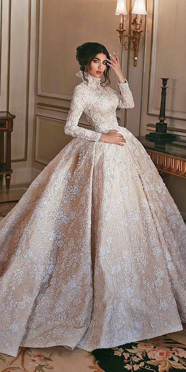 24 Lace Ball Gown Wedding Dresses You Love | Weddi