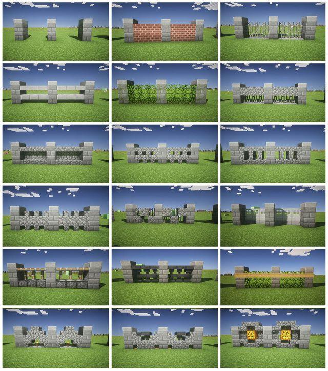 Minecraft Fence Design Minecraft Ideas Pinterest Minecraft