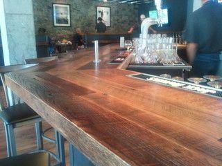 Reclaimed Oak Bar Top Wine Cellar By Reclaimed Designworks Wood Bar Top Bar Top Reclaimed Oak