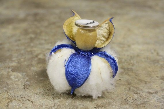 Blue Cotton Boll Angel by KRHintonDesigns on Etsy, $7.50