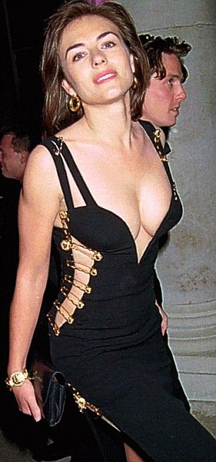 Elizabeth Hurley Wore A Black Versace Dress Often Referred To As