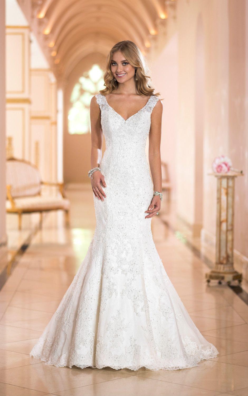 V Декольте Свадебное Платье Русалка Новый Стиль Высокое