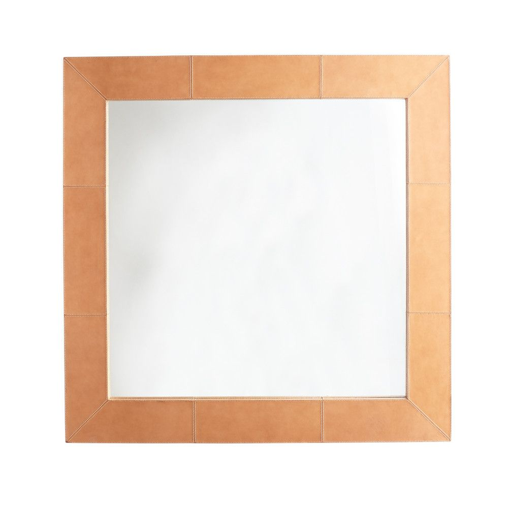 Saddle Leather Mirror  Square is part of Country Home Accessories Mirror -