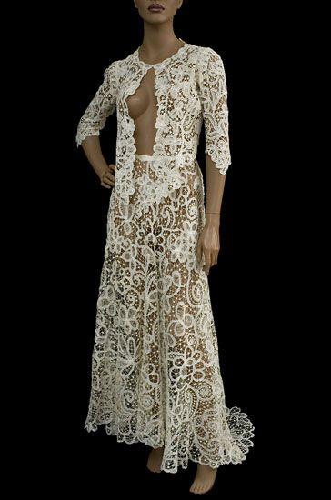 Battenberg lace dress   History   Pinterest   Arte irlandés, Modelo ...