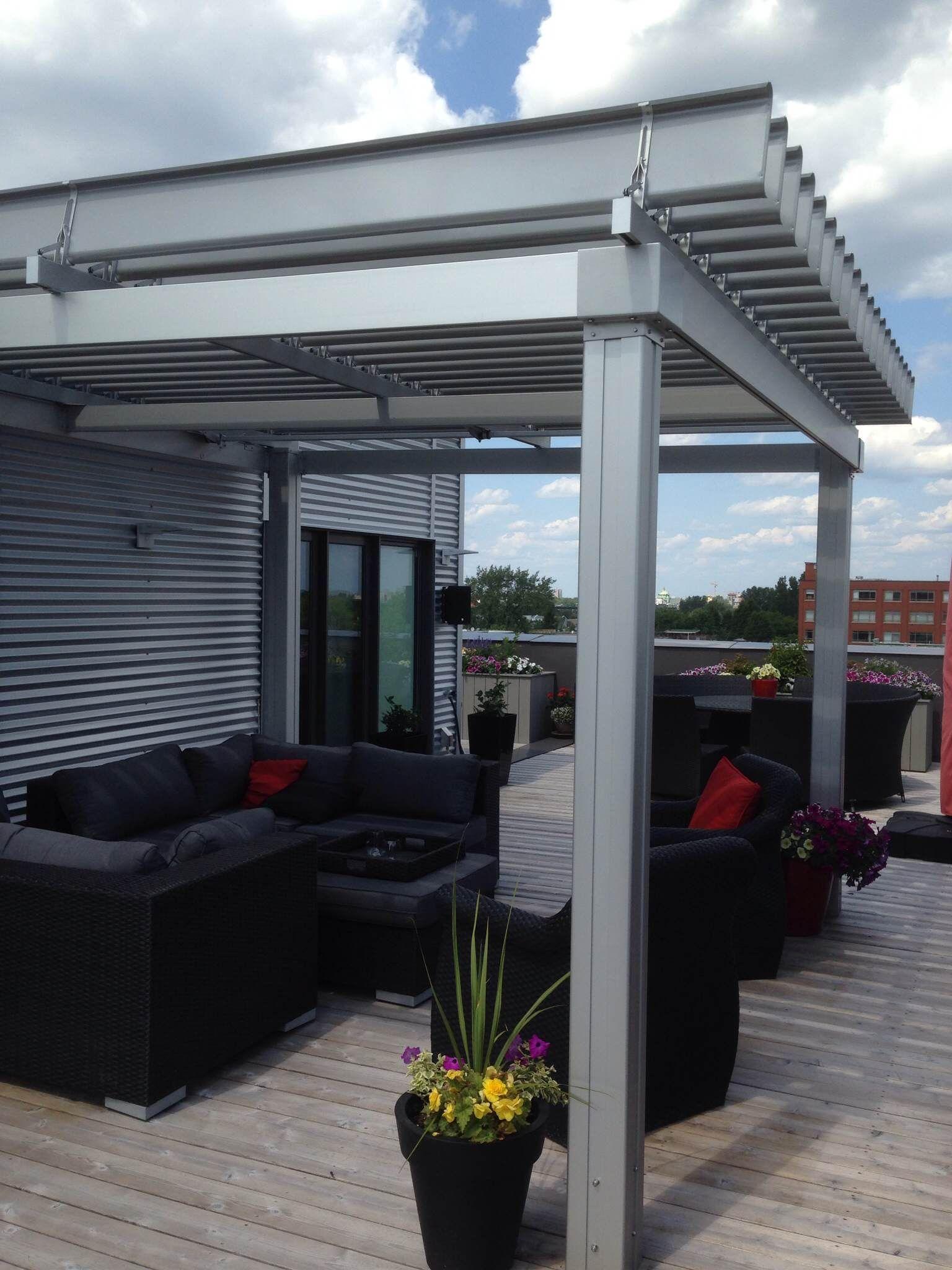 Magnifique Sunlouvre Pergolas Sur Toit Terrasse #Pergola #Pergolas #Aluminium #Aluminum #