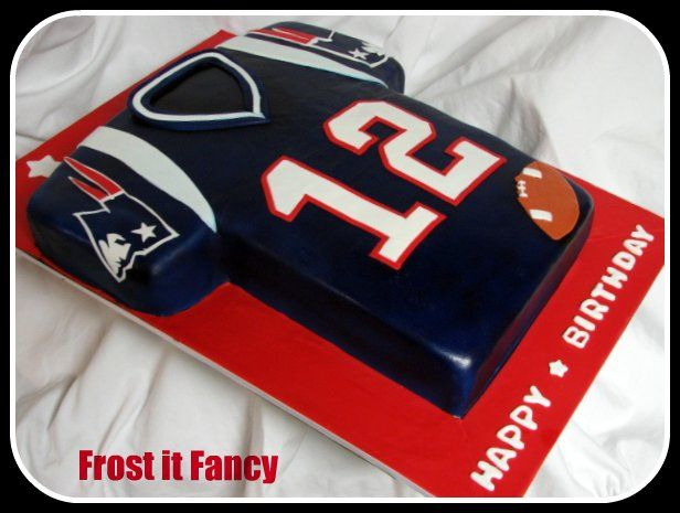 Side View Patriots Jersey Cake  7d6c2cd7424a5