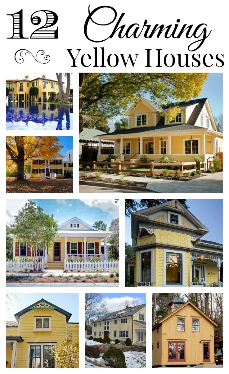 yellow decorating inspiration | yellow houses, house and exterior