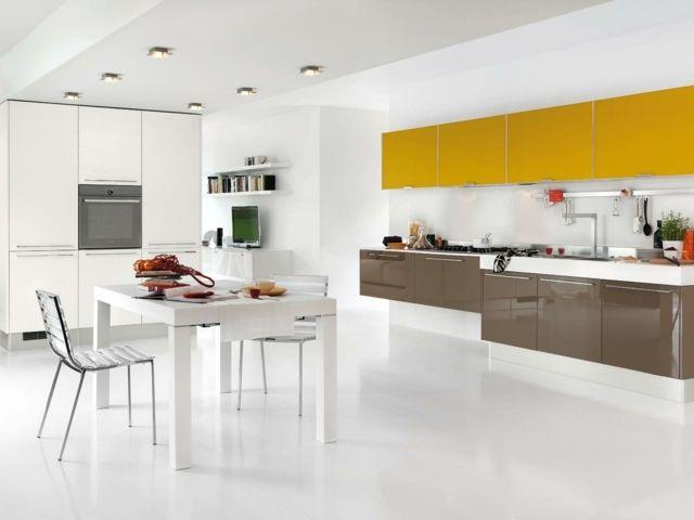 Pin By Cuisine Equipee Rabat On Cuisiniste Rabat Modern Kitchen Yellow Kitchen Design Modern Kitchen