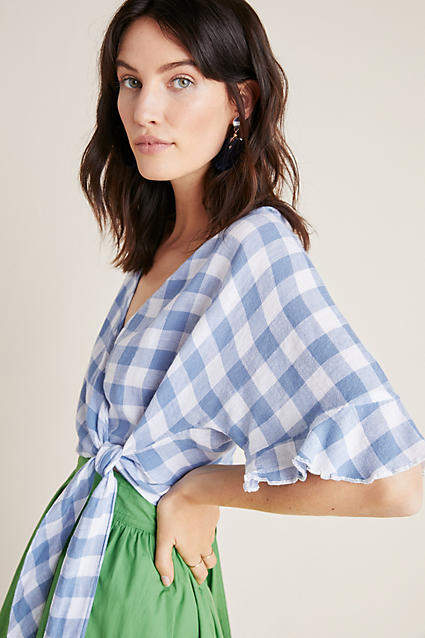 af2696cb5f8186 Rails Gingham Wrap Top in 2019 | Products | Anthropologie clothing ...