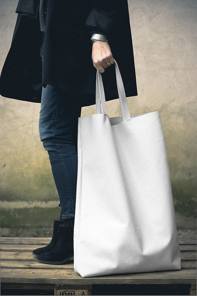 White Oversized Giant Leather Tote Bag