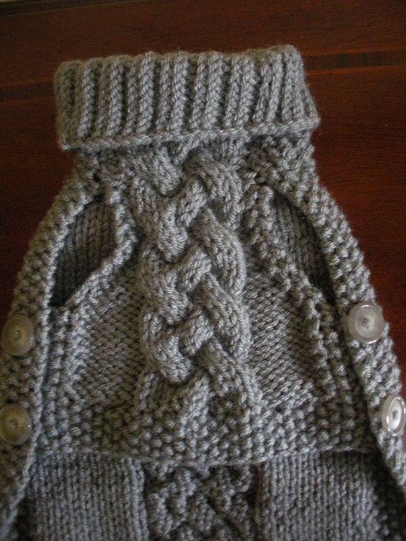 Tejida a mano suéter armadura de cesta botón por bychancedesigns ...
