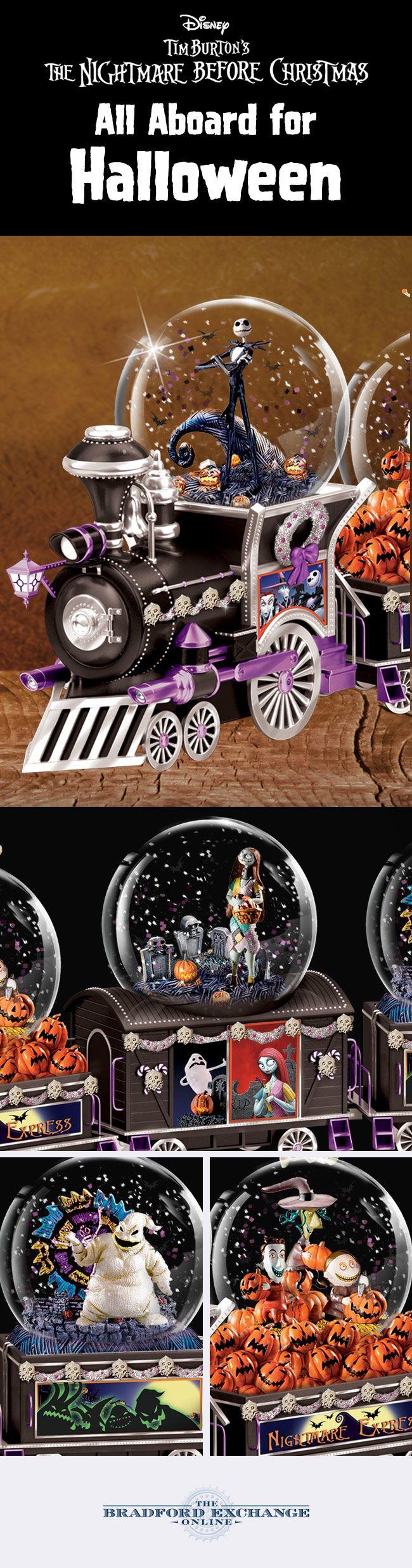 Disney Nightmare Before Christmas Glitter Globe Collection ...