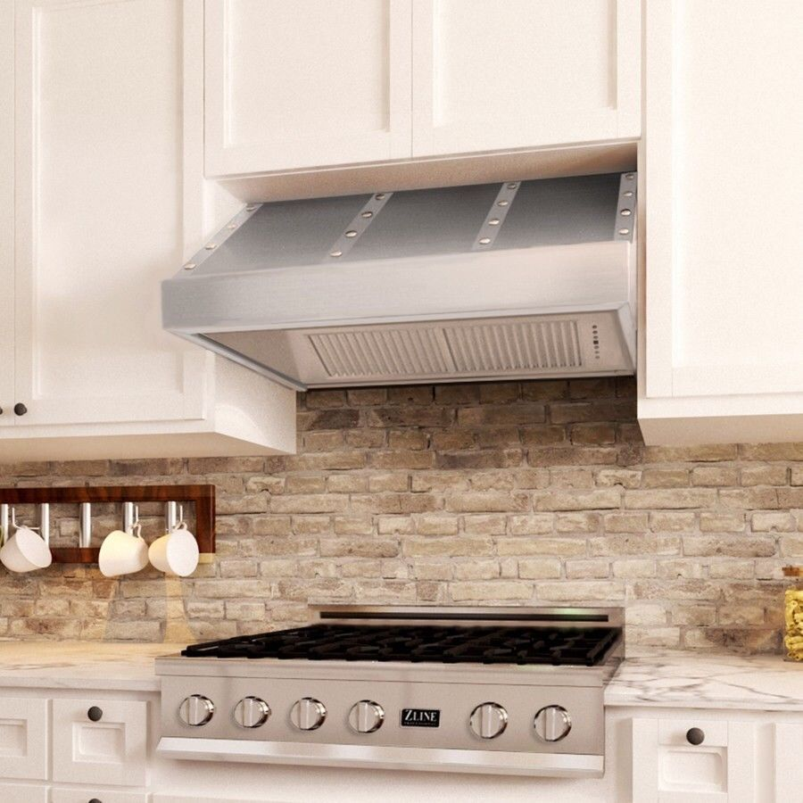 Zline 435 Sx44s 36 Under Cabinet Range Hood 1200 Cfm Designer Series 36 In Under Cabinet Cabinet Design
