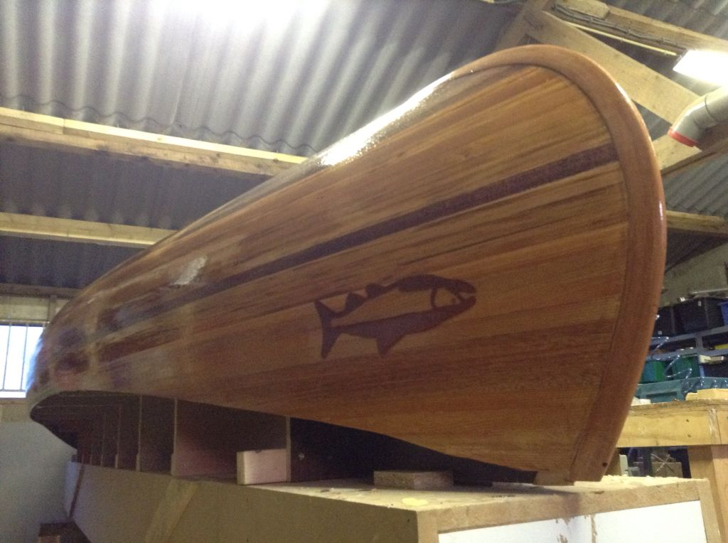 Cedar Strip Canoe Build : Ready For Last Sanding And Then The Outside Layer  Of Fiberglass