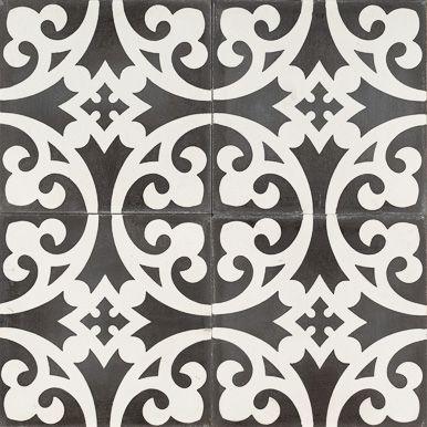 Reproduction Tile Jatana Interiors Black Mustard Flower Bathroom Encaustic Tile Tiles