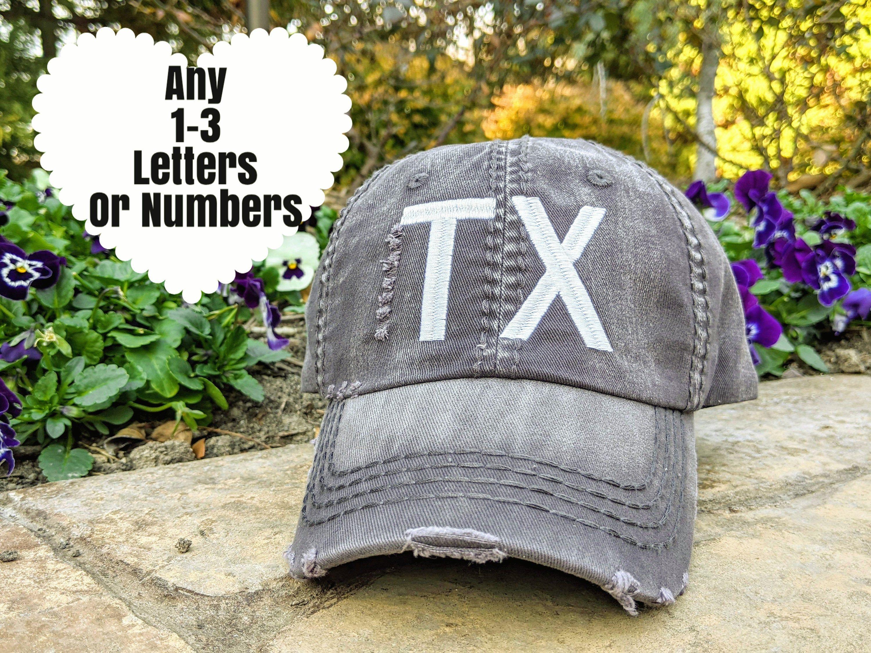 50 States Baseball Cap, Airport Code Hat, Abbreviation Hat