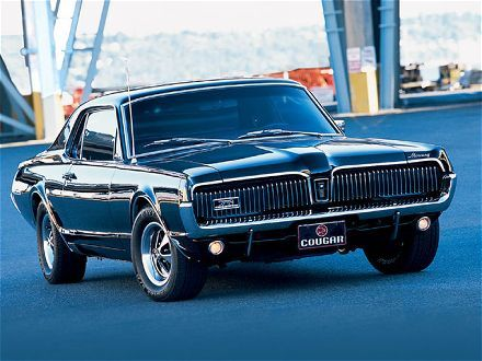 1967 Mercury Cougar My First Car In Cali Mine Had Custom Paint Job It Was Blue And White