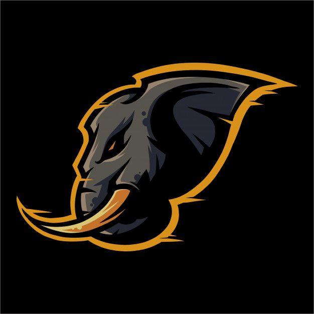 E Sport Logo Elephant Ready To Attack