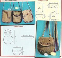 9125d3f92 crochet bag / Bolsos y carteras en cuero y crochet // Sana Adicción ...