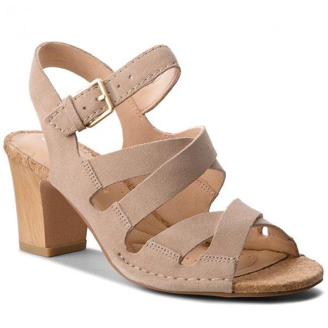 oficjalny dostawca wyprzedaż w sprzedaży cała kolekcja Sandały CLARKS - Spiced Ava 261318304 Sand Suede | Buty ...