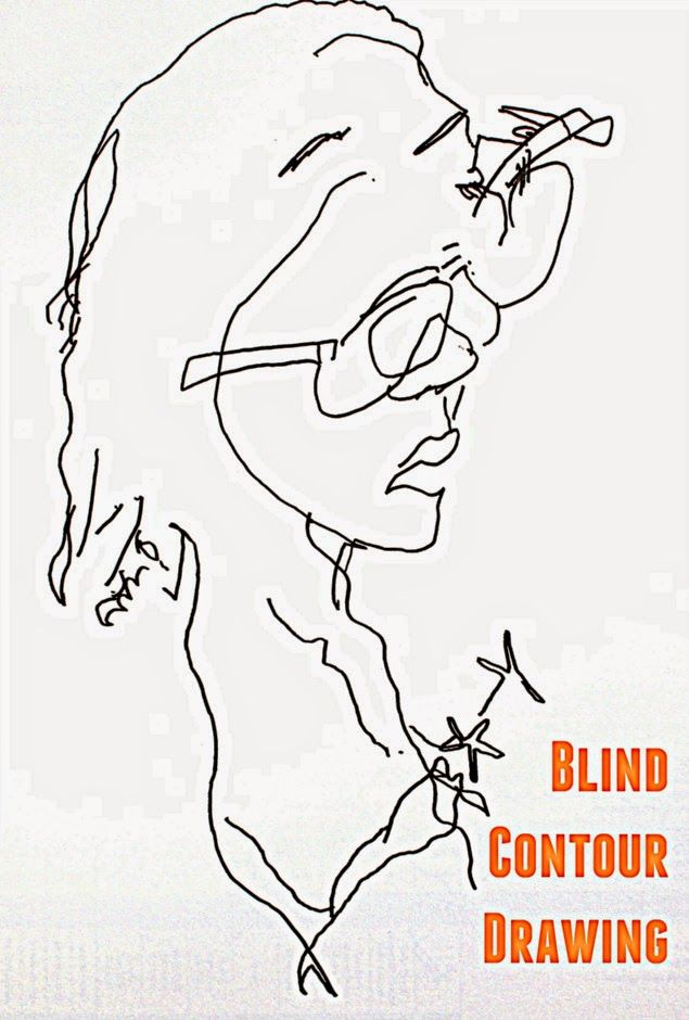 Blind Contour Line Drawing Tutorial : How to do a blind contour drawing be activities and