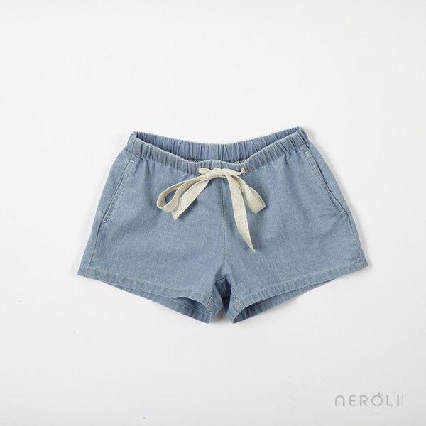 Pantalón Short vaquero con lazo para niña de Hartford. #girl #trousers #fashion…