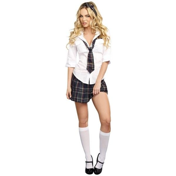 68dfdb7239 Dreamgirl Women's Sexy Schoolgirl Plaid Costume, Prep School ($38) ❤ liked  on Polyvore featuring costumes, womens costumes, school girl, sexy women ...