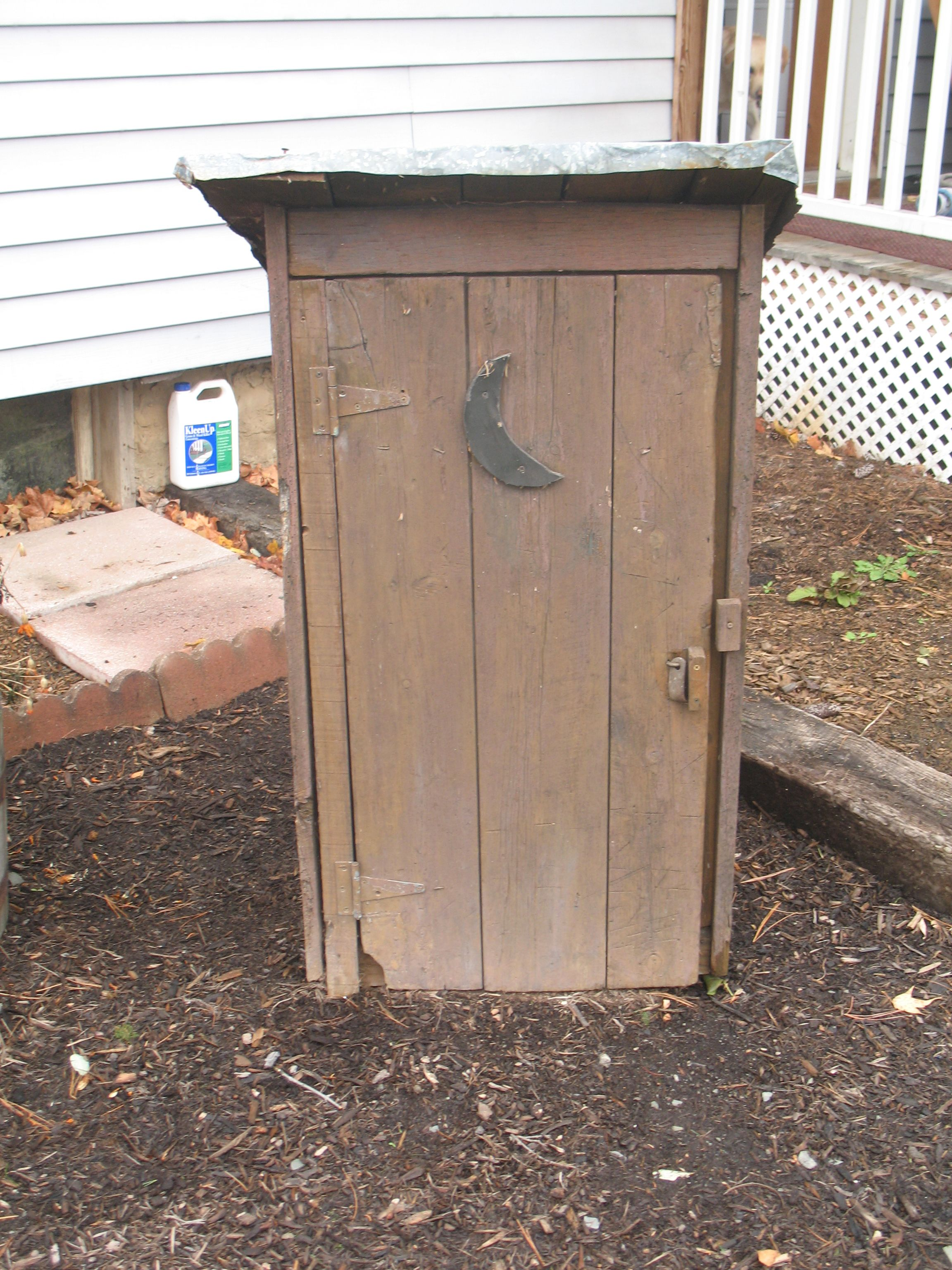 This Is My Little Idea To Hide A Garden Hose. Inside This Fake Outhouse I