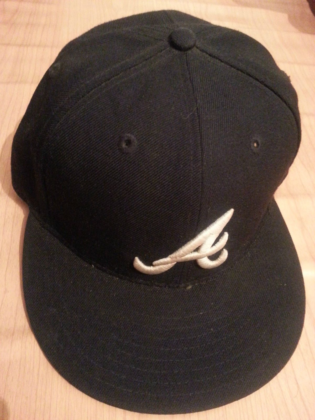 59c96ae544b5 ... france 59 fifty new era major league baseball cap atlanta braves size 7  1 d2cfd db700