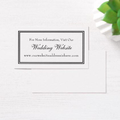 Minimal Black White Wedding Website Insert Cards Weddings