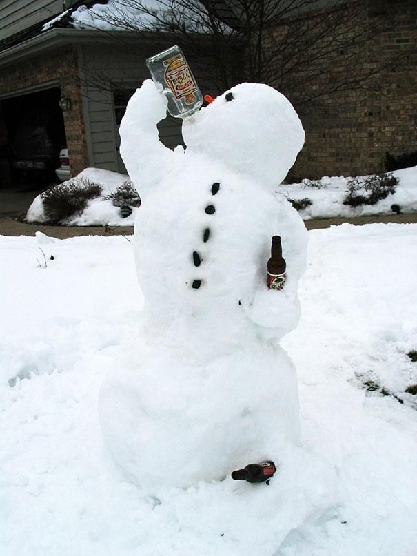 30 Crazy And Creative Snowman Ideas   Link To Website. First Snow Today And  If Itu0027s Going To Snow, Then Better Make It Damn Fun!