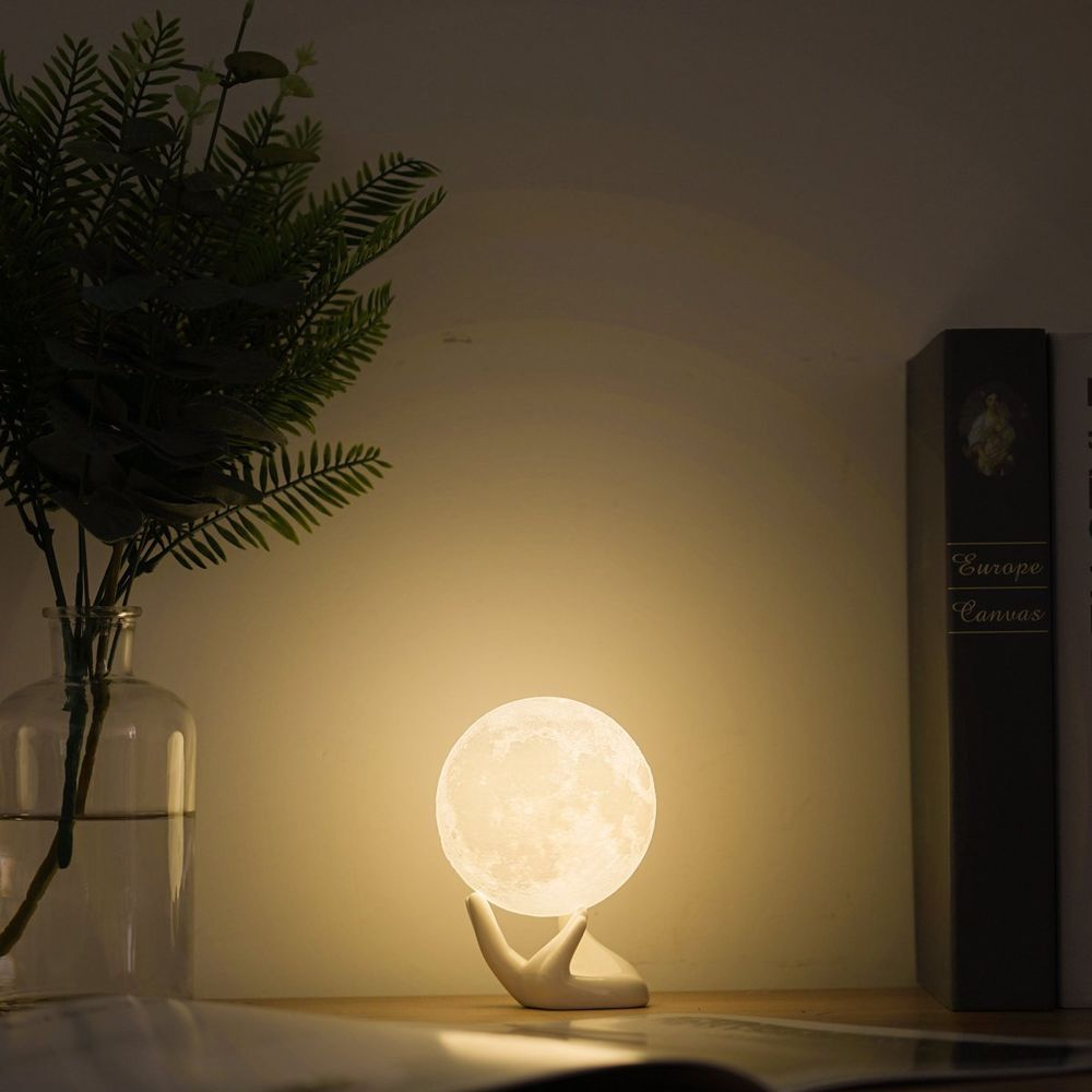 9cm New 3d Light Gift For Kid Moon Lamp Moon Light Night Light Led Usb Charge Nightlightmoonlamp Led Night Light 3d Light Night Light