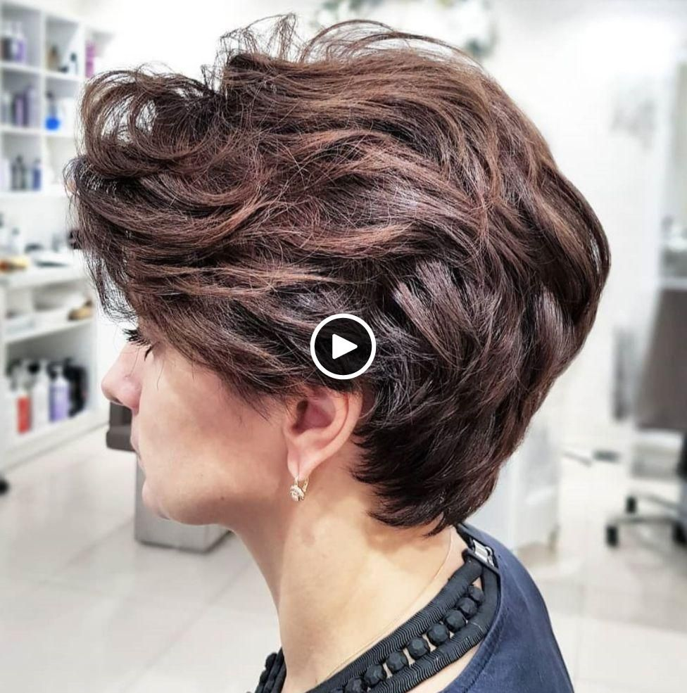 Hairstyles For Short Thick Hair Simple Hairstyle Ideas For Women And Man Hair Styles Short Hair Styles Haircut For Older Women