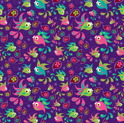Paisley Fish fabric by oddlyolive on Spoonflower - custom fabric