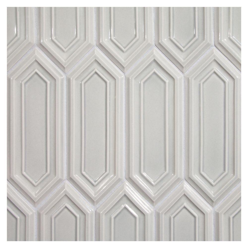 Complete Tile Collection Vermeere Carved Ceramic Elongated Hexagon 3 X 8 1 4 Tile Carved Ceramic Tile Mi 1 Ceramic Tiles Hexagonal Art Dimensional Tile