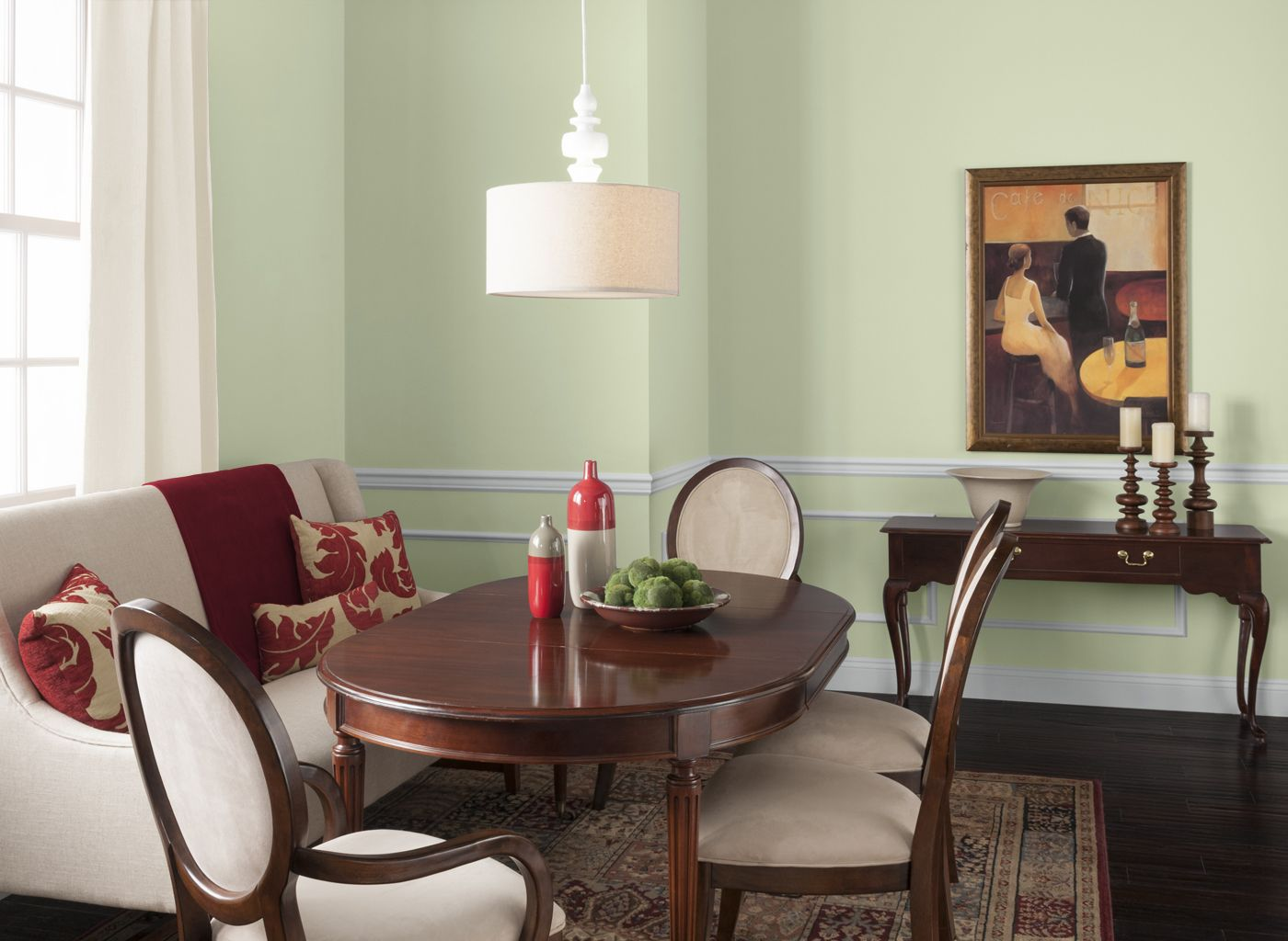 Dining Room In Iced Green Grape Painted Rooms Dining