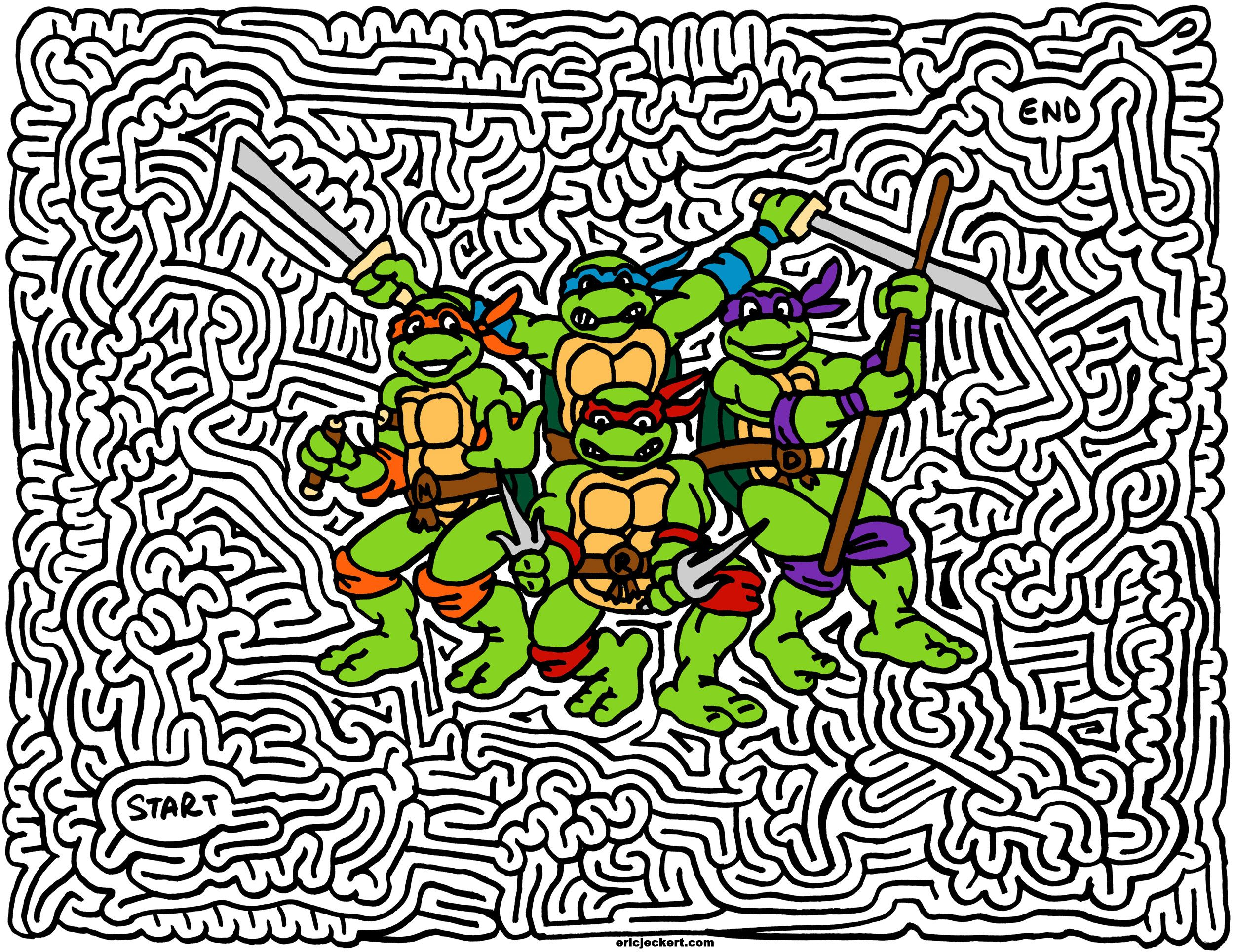 Teenage Mutant Ninja Turtles Mazes