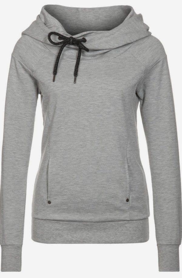 Grey comfy and cozy hoodie fashion