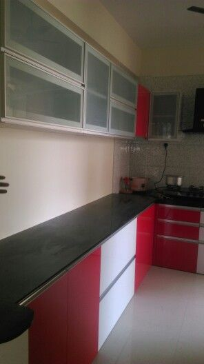 L Shaped Modular Kitchen G Section Handles Profile Shutter